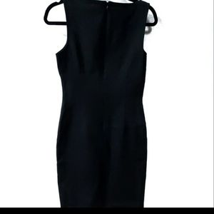 David Meister Black Sheath Dress Size 4